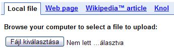 Google Translator Toolkit: feltöltés