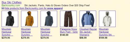 Google AdWords: Termékek a hirdetésekben
