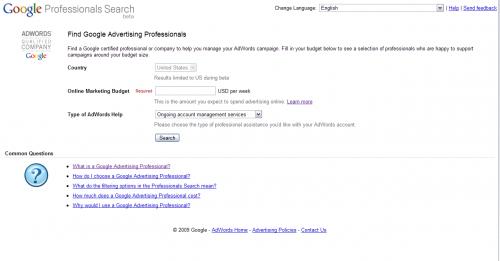 AdWords Professionals keresés