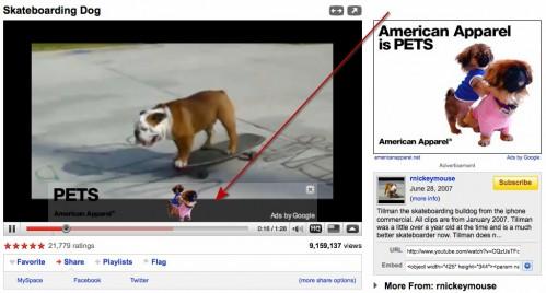 YouTube hirdetés videó lejátszóban