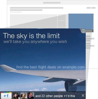 +1 gomb a Display Hálózaton megjelenő hirdetésekhez