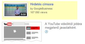 In-Display hirdetés a kapcsolódó videók felett