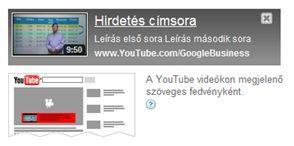 In-Display hirdetés a lejátszott videón belül